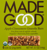 MadeGood Apple Cinnamon Granola Bars 6 Count
