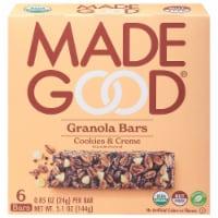 MadeGood™ Cookies and Creme Granola Bars - 6 ct / 0.85 oz