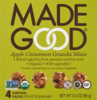 MadeGood Apple Cinnamon Granola Minis 4 Count