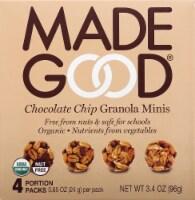 MadeGood Organic Chocolate Chip Granola Minis Pouches 4 Count