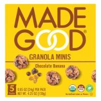 MadeGood® Gluten Free Chocolate Banana Granola Minis - 5 ct / 0.85 oz