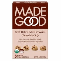 MadeGood Soft Baked Mini Chocolate Chip Cookies Portion Packs 5 Count