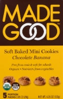 MadeGood Chocolate Banana Soft Baked Mini Cookies Portion Packs 5 Count