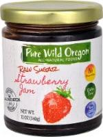 Pure Wild Oregon  Raw Sugar Jam Gluten Free   Strawberry
