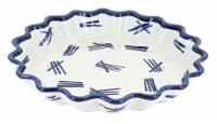 Blue Rose Polish Pottery Zoe Quiche Dish - 1