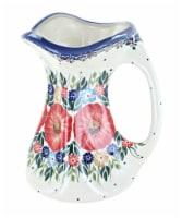 Blue Rose Polish Pottery Amelie Flower Vase - 1
