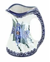 Blue Rose Polish Pottery Clementine Flower Vase - 1