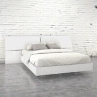 Nexera Acapella Queen Panel Bed in White Melamine - 1