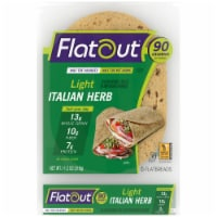 Flatout Light Italian Herb Flatbread 6 Count