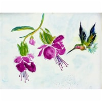 Betsy Drake PM940 Purple Hummingbird Place Mat - Set of 4 - 1