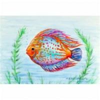 Betsy Drake DM358 Orange Fish Door Mat, Small
