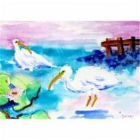 Betsy Drake DM379 White Ibis Door Mat, Small