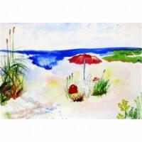 Betsy Drake DM380 Red Beach Umbrella Door Mat, Small - 1