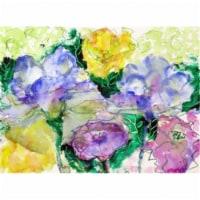Betsy Drake DM390 Watercolor Garden Door Mat, Small - 1