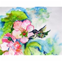 Betsy Drake DM437G Hummingbird & Hibiscus Door Mat, Large