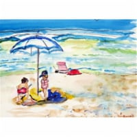 Betsy Drake PM391 Children At The Beach Place Mat - Set of 4 - 4