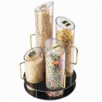 Cal Mil 723 12 Round Cereal Dispenser - Black - 1
