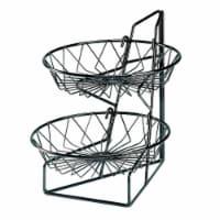 Cal Mil 1292-2 2-Tier Merchandiser with Round Wire Baskets - 12 x 15 x 15 in.
