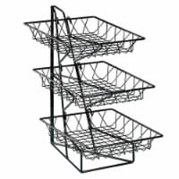 Cal Mil 1293-3 3-Tier Merchandiser with Square Wire Baskets - 12 x 19 x 20 in.