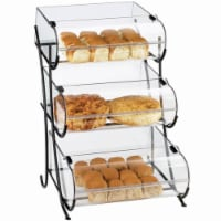 Cal Mil 1280-3 3-Tier Black Wire Pastry Display - 17.5 x 16.375 x 25 in. - 1