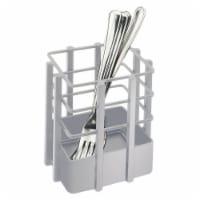 Cal Mil 1544-74 Soho Silver Single Slot Metal Flatware Organizer - 4 x 4 x 4.5 in.