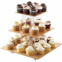 Cal Mil 1318-60 Cupcake Display with Bamboo Shelves - 20 x 20 x 17.25 in. - 1