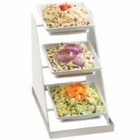 Cal Mil 3022-55 8 in. Square Bowl Rack - White & Stainless Steel - Silver - 1