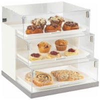 Cal Mil 3020-55 3 Step 13 x 18 in. Case - White & Stainless Steel - Silver - 1
