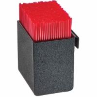 Cal Mil 3573-13 Black Slanted Organizer Plastic Stir Stick Holder - 3.375 x 3.75 x 4 in. - 1