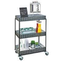 Cal Mil 3583-13 3-Shelf Iron Beverage Cart - 29 x 18.5 x 41.75 in. - 1