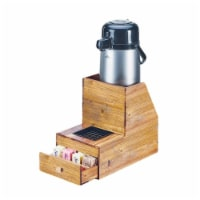 Cal Mil 3623-99 Madera 2-Tier Wood Airpot Stand with Drawer - 7.875 x 13 x 11.25 in.