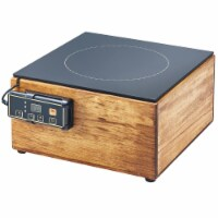 Cal Mil 3633-99 Madera Reclaimed Wood Countertop Induction Cooker - 120V, 1600W - 12 x 12 x 6