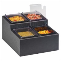 Cal Mil 3687-13 Classic 4 Section Condiment Station - 13.75 x 16.25 x 9 in. - 1
