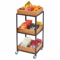 Cal Mil 3921-84 Sierra Bronze Metal & Reclaimed Wood 3-Tier Merchandiser Cart