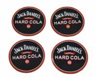 Set of 4 Jack Daniels Hard Cola Rubber Coasters Mini Beverage Mats