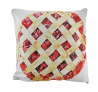 18 in. Cherries and Cherry Pie Decorative Throw Pillow - Medium
