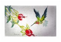 Betsy Drake Betsy's Hummingbird 30 X 50 Inch Floral Comfort Floor Mat - One Size