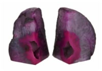 Small Polished Pink Brazilian Agate Geode Bookends <4 Pounds - One Size