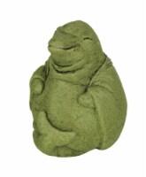 Designer Stone Mossy Green Zen Dolphin Concrete Statue - One Size