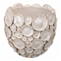 Jamie Young Co Modern Ceramic Siren Floral Vessel in White Finish - 1