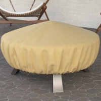 Dura Covers LRFP5515 Fade Proof Tane 44 in. Heavy Duty Durable & Water Resistant Round Fire P