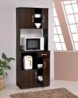 """28"""" X 16"""" X 70"""" Espresso Kitchen Cabinet"""