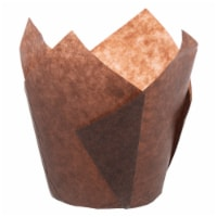 Large Brown Tulip Baking Cups / 2,000-ct. Case - 2,000-ct. Case