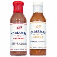 Yo Mama's Foods Dressing and Marinade Combo (2) 13 oz Bottle Bold Balsamic & Zesty Sesame - 2 Bottles/13 Ounce