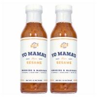 Yo Mama's Foods Gourmet Natural Zesty Sesame Dressing and Marinade (2) Large 13 oz Bottles - 2 Bottles/13 Ounce