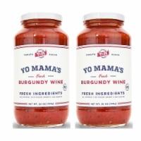 Yo Mama's Foods Gourmet Burgundy Wine Pasta Sauce (2) 25 oz Jars No Sugar Added, Gluten-Free
