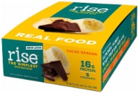 Rise Foods  Whey Protein 16G Bar Gluten Free   Cacao Banana - 12 Bars