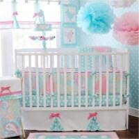 My Baby Sam CRIB3167 3 Piece Pixie Baby Bedding Set, Aqua