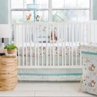 My Baby Sam CRIB3185 Friends Crib Bedding 3 Piece - Forest