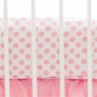 My Baby Sam CRSH061 Coral Polka Dot Crib Sheet